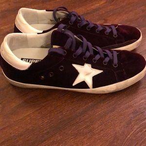 Golden Goose Superstar Purple Velvet Sneakers 41